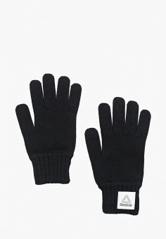 Перчатки, Reebok, цвет: черный. Артикул: RE160DUUOW62. Аксессуары / Перчатки и варежки