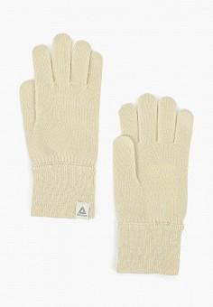 Перчатки, Reebok, цвет: бежевый. Артикул: RE160DWFKPF9. Аксессуары / Перчатки и варежки