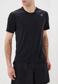 Футболка спортивная, Reebok, цвет: черный. Артикул: RE160EMEEAO9. Одежда / Футболки и поло