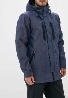 Куртка утепленная, Reebok, цвет: синий. Артикул: RE160EMFKLH4. Одежда / Верхняя одежда / Пуховики и зимние куртки