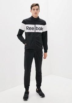 Костюм спортивный, Reebok, цвет: черный. Артикул: RE160EMHWFF9. Одежда / Спортивные костюмы