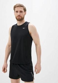 Майка спортивная, Reebok, цвет: черный. Артикул: RE160EMJCIH7. Одежда / Майки