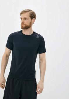 Футболка спортивная, Reebok, цвет: черный. Артикул: RE160EMJFPX4. Одежда / Футболки и поло