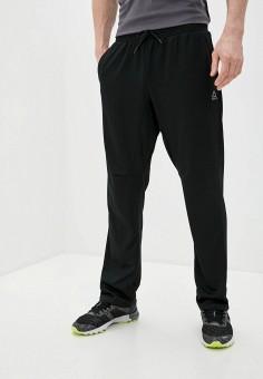 Брюки спортивные, Reebok, цвет: черный. Артикул: RE160EMJFPZ8. Одежда / Брюки / Спортивные брюки