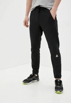 Брюки спортивные, Reebok, цвет: черный. Артикул: RE160EMJFPZ9. Одежда / Брюки / Спортивные брюки