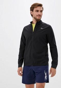Куртка спортивная, Reebok, цвет: черный. Артикул: RE160EMJMCN7.