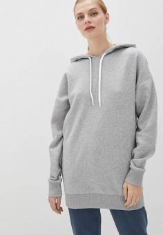 Худи, Reebok, цвет: серый. Артикул: RE160EWJMEO3. Одежда / Толстовки и свитшоты