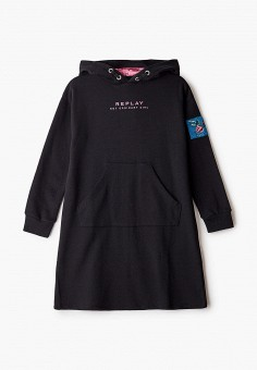 Платье, Replay, цвет: черный. Артикул: RE770EGKDRV1. Девочкам / Одежда / Платья и сарафаны
