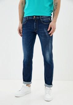 Джинсы, Replay, цвет: синий. Артикул: RE770EMJBAX9. Одежда / Джинсы / Прямые джинсы