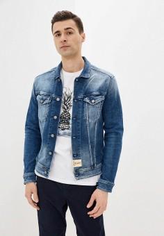 Куртка джинсовая, Replay, цвет: синий. Артикул: RE770EMJBAY7. Одежда / Верхняя одежда / Джинсовые куртки