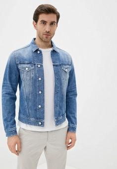 Куртка джинсовая, Replay, цвет: синий. Артикул: RE770EMJBAY9. Одежда / Верхняя одежда / Джинсовые куртки