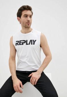 Майка, Replay, цвет: белый. Артикул: RE770EMJBBB0. Одежда / Майки
