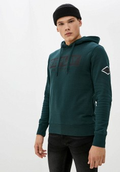 Худи, Replay, цвет: зеленый. Артикул: RE770EMKDSP5. Одежда / Толстовки и олимпийки / Худи