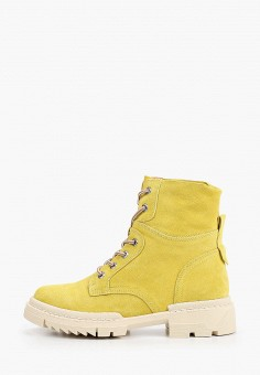 Ботинки, Respect, цвет: желтый. Артикул: RE771AWILQY9. Обувь / Ботинки / Высокие ботинки