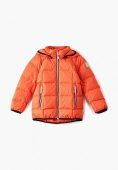 Пуховик, Reima, цвет: оранжевый. Артикул: RE883EKFYGW9. Мальчикам / Одежда / Верхняя одежда