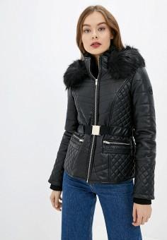 Куртка кожаная, River Island, цвет: черный. Артикул: RI004EWGOAB2.