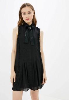Платье, River Island, цвет: черный. Артикул: RI004EWGOAC2.