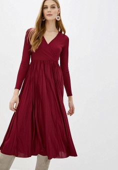 Платье, River Island, цвет: бордовый. Артикул: RI004EWHMTX0.