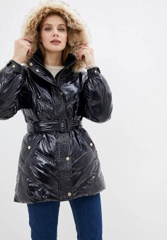 Куртка утепленная, River Island, цвет: черный. Артикул: RI004EWHTGI3.