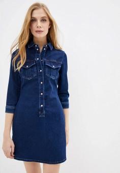 Платье джинсовое, River Island, цвет: синий. Артикул: RI004EWHTGI5.