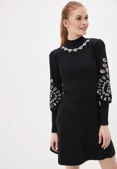 Платье, River Island, цвет: черный. Артикул: RI004EWHWHY3.