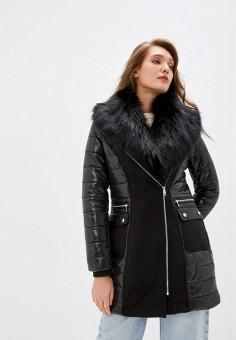 Куртка утепленная, River Island, цвет: черный. Артикул: RI004EWIDSS0.