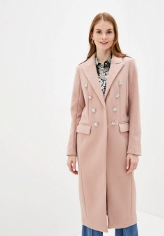 Пальто, River Island, цвет: розовый. Артикул: RI004EWIGOZ0.