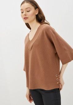 Пуловер, River Island, цвет: коричневый. Артикул: RI004EWIMFU4.