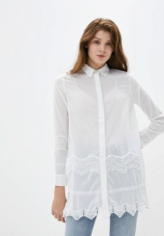Рубашка, River Island, цвет: белый. Артикул: RI004EWIOXK6. Одежда / Блузы и рубашки / Рубашки