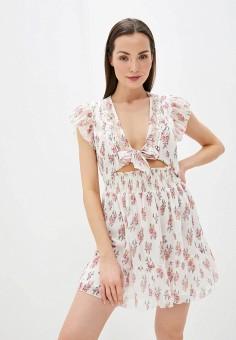 Платье, River Island, цвет: белый. Артикул: RI004EWIZPY7.