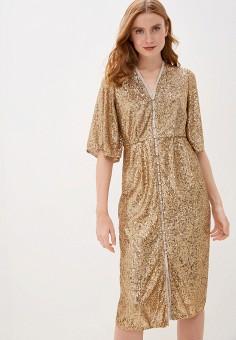 Платье, River Island, цвет: золотой. Артикул: RI004EWJAQU3.