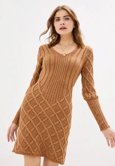 Платье, Rinascimento, цвет: коричневый. Артикул: RI005EWJWCZ2. Одежда / Платья и сарафаны