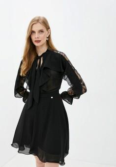 Платье, Rinascimento, цвет: черный. Артикул: RI005EWJWFX7. Одежда / Платья и сарафаны / Вечерние платья