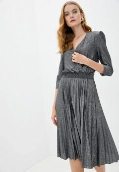 Платье, Rinascimento, цвет: серый. Артикул: RI005EWJWGG5. Одежда / Платья и сарафаны / Вечерние платья