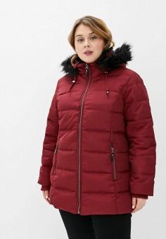 Куртка утепленная, Rosa Thea, цвет: бордовый. Артикул: RO043EWGJSW8. Одежда / Верхняя одежда / Пуховики и зимние куртки / Пуховики