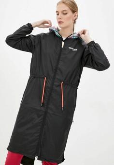 Плащ, Roberto Cavalli Sport, цвет: черный. Артикул: RO047EWIOKC7. Одежда / Верхняя одежда / Плащи и тренчи