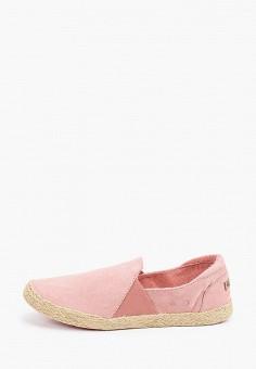 Эспадрильи, Roxy, цвет: розовый. Артикул: RO165AWIJJD4. Обувь / Эспадрильи