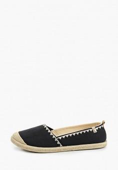 Эспадрильи, Roxy, цвет: черный. Артикул: RO165AWIJJD8. Обувь / Эспадрильи