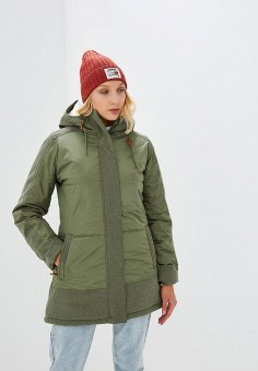 Куртка утепленная, Roxy, цвет: хаки. Артикул: RO165EWCFIF8.