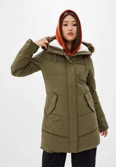 Куртка утепленная, Roxy, цвет: хаки. Артикул: RO165EWEXKP9.