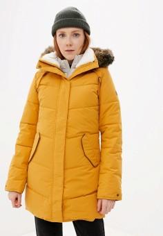 Куртка утепленная, Roxy, цвет: желтый. Артикул: RO165EWEXKQ2.