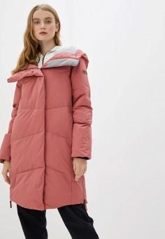 Пуховик, Roxy, цвет: розовый. Артикул: RO165EWEXKW1.