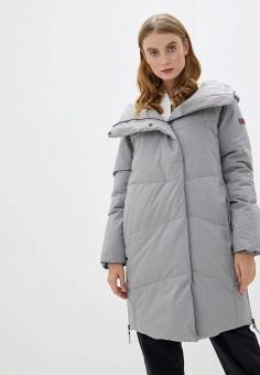 Пуховик, Roxy, цвет: серый. Артикул: RO165EWEXKW2. Одежда / Верхняя одежда / Пуховики и зимние куртки / Пуховики