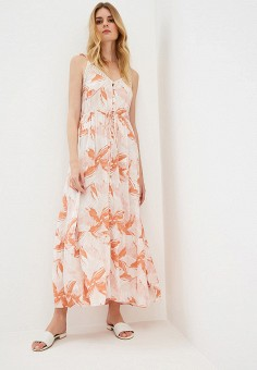 Платье, Roxy, цвет: оранжевый. Артикул: RO165EWFNRA7.