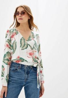 Блуза, Roxy, цвет: белый. Артикул: RO165EWGCJM7.