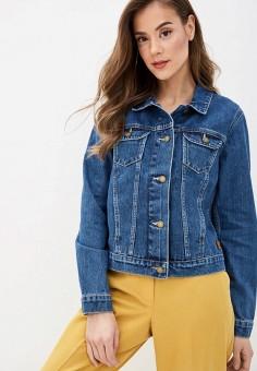 Куртка джинсовая, Roxy, цвет: синий. Артикул: RO165EWIJDT6.