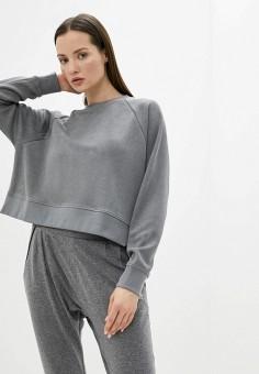 Свитшот, Roxy, цвет: серый. Артикул: RO165EWIJEU5.