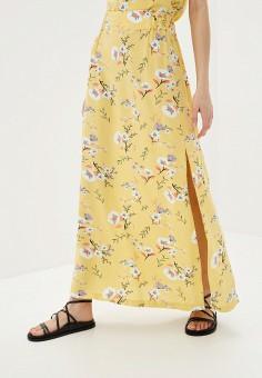 Юбка, Roxy, цвет: желтый. Артикул: RO165EWIJJR7.