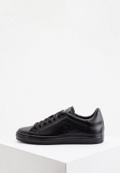 Кеды, Roberto Cavalli, цвет: черный. Артикул: RO352AMIKPT5. Обувь / Кроссовки и кеды / Кеды