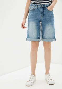 Шорты джинсовые, Savage, цвет: голубой. Артикул: SA004EWIYEK9. Одежда / Шорты